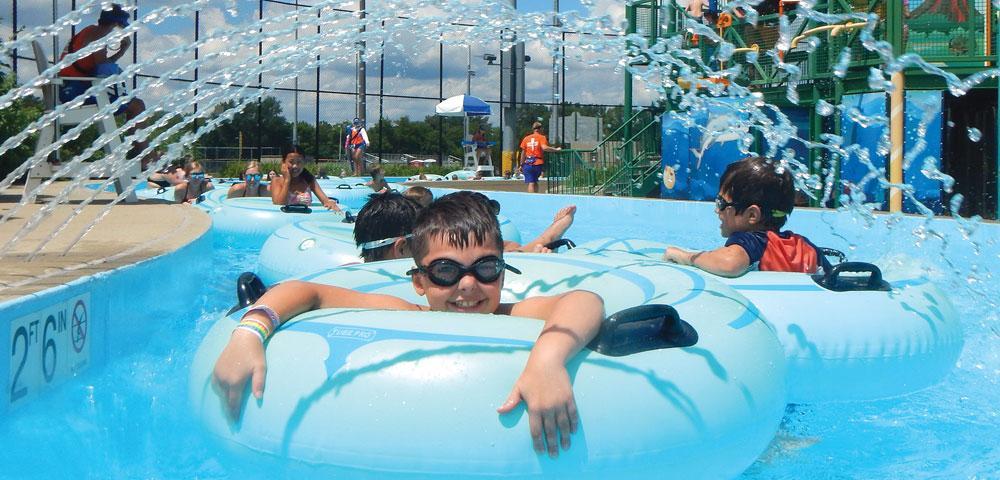 Boys swimming underwater